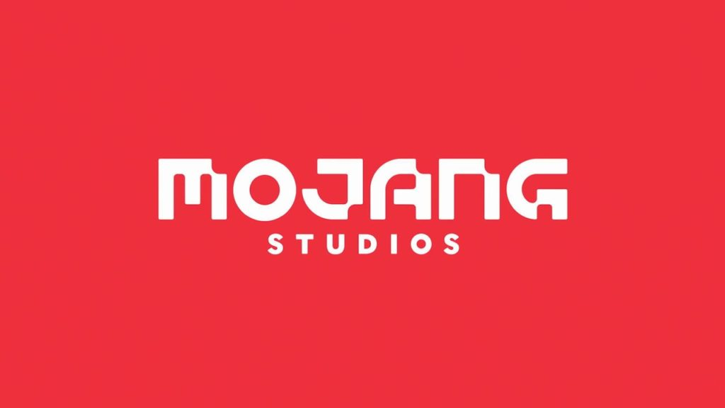 The red Mojang logo screen